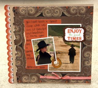 Vintage Groove - Enjoy the Good Times Layout