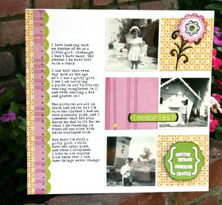 Girly Girl Layout (Birthday Paper)