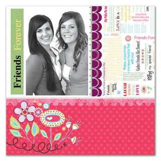 Friends Forever Layout 6 inch