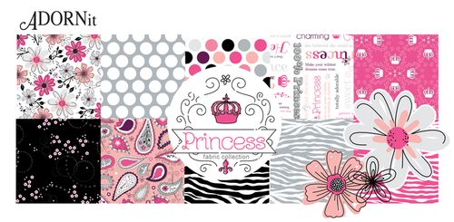 ADORNit PRincess Fabric Collection